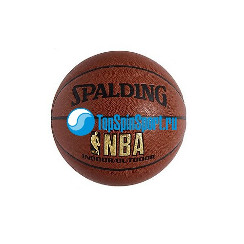 Мяч баскетбольный Spalding NBA Gold Series Indoor/Outdoor; фотография №1
